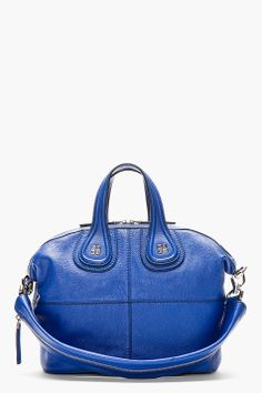 5a23ac328f67 Givenchy Royal Blue Leather Nightingale Shoulder Bag Givenchy Clothing