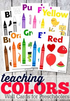 These full page color cards make working on colors with your toddler super easy and a ton of fun! Just hang them up on the wall and explore! Learning Colors for Toddlers Preschool Printables, Preschool Classroom, Preschool Learning, In Kindergarten, Fun Learning, Preschool Activities, Free Printables, Toddler Classroom, Free Printable Calendar