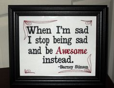 """Funny Barney Stinson Quote """"Awesome"""""""