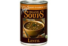 The Packaged Foods Dietitians Pick // Amy's Light in Sodium Lentil Soup c Amy's Kitchen