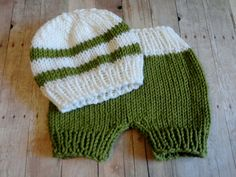 Baby Hat Baby Pants Newborn Hat Knit Knit Baby Hat by KnitsDuNord, $38.00