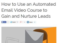 How to use Automated E-mail video courses to gain and nurture leads by Wishpond. Landing Page Optimization, Email Marketing, Being Used, Gain, Improve Yourself, Classroom, Led, Learning, Tips