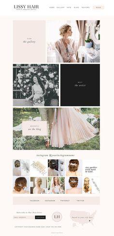 Wix website template wedding hair stylist wedding blogger