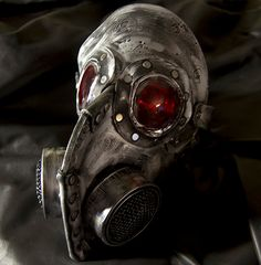 Steampunk leather gas mask  Halloween comicon by MonkeyDungeon, $159.99