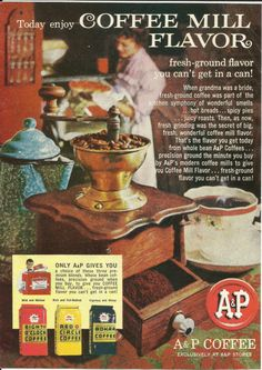 vintage+eight+o'clock+coffee+ads+|+...+Vintage+Print+Ad+Color+Photo+Coffee+Mill+Cup+Mug+Eight+O'clock+Red