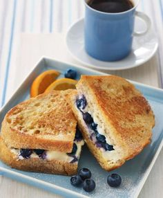Recipe Box : Blueberry French Toast Sandwich