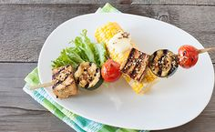 Epicure Oh Canada! Fast Healthy Meals, Healthy Recipes, Grilled Tofu, Gluten, Kebabs, Meatless Monday, Yummy Eats, Mondays, Cherry Tomatoes