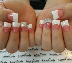 Nails, duck feet nails, duck tip nails, white acrylic nails, acrylic na French Tip Acrylic Nails, Acrylic Nail Designs, French Nails, Duck Tip Nails, Duck Feet Nails, Fan Nails, Love Nails, How To Do Nails, Gorgeous Nails