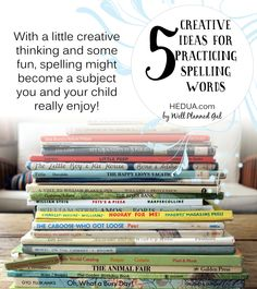 With a little creative thinking and some fun, spelling might become a subject you and your child really enjoy! #homeschool #spelling