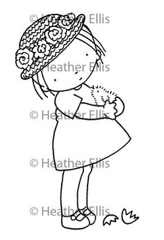 Pure Innocence Digital Stamp 025 by digistampcharacters on Etsy