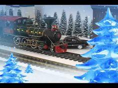 Christmas Train Music Video for Kids #1 | Cool Model Railroads | Santa