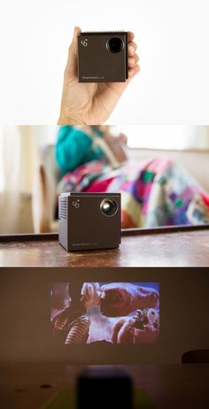 The Li'l Laser Projector shines your photos, videos and movies onto any surface for viewing at up to 100 inches wide. We always suspected lasers were magic. This feels like proof.