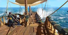 Rare unveiled a new title called Sea of Thieves for the PC (Windows and Xbox One, via a trailer which you can view here. Sea Of Thieves Ps4, Thief Ps4, Pirate Adventure, Game Themes, Exactly Like You, Game Assets, Game Design, Trees To Plant, Wind Turbine