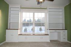 bookshelf window seat   Nursery: window seat, bookshelves and desk. - by JasonWagner ...: