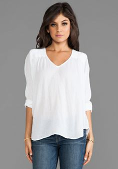 CURRENT/ELLIOTT The Picnic Shirt in Sugar at Revolve Clothing - Free Shipping!