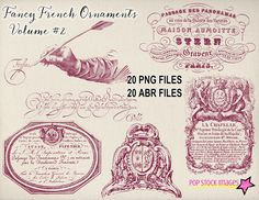 Vintage French Ornament Brushes #2 by @Graphicsauthor