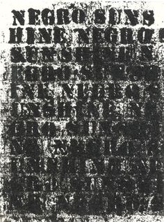 Glenn Ligon, STUDY FOR NEGRO SUNSHINE #53