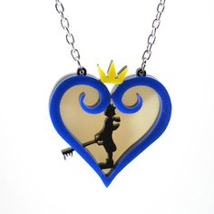 Kingdom Hearts Sora Silhouette Necklace. I WANT IT.