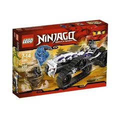 Help the fearless ninjas use Spinjitzu to avoid being swallowed up by the Turbo Shredder. Don't forget to grab the golden weapon! Set includes Turbo Shredder, 3 minifigures and 3 weapons.