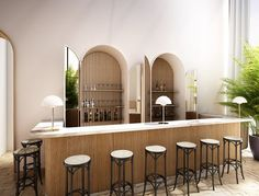 Vintage bar and restaurant ideas for you to visit and take some cool vintage industrial pictures Commercial Interior Design, Commercial Interiors, Modern Interior Design, Design Bar Restaurant, Deco Restaurant, Restaurant Ideas, Architecture Restaurant, Interior Architecture, Cool Vintage