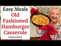 (59) Old Fashioned Hamburger Casserole Recipe - YouTube Hamburger Casserole, Casserole Recipes, Meat Recipes, Country Cooking, Ground Beef Recipes, Main Dishes, Easy Meals, Tasty, Stuffed Peppers
