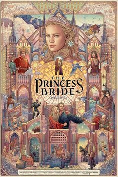 The Princess Bride by William Goldman (illustration by Ise Ananphada) Beau Film, Movie Poster Art, Poster S, Poster Drawing, Best Movie Posters, Book Posters, Comic Collage, Tachisme, Poster Design