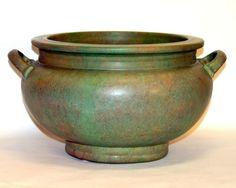 Huge Early Roseville Arts & Crafts Art Pottery Pre Carnelian Vase Bowl Planter.