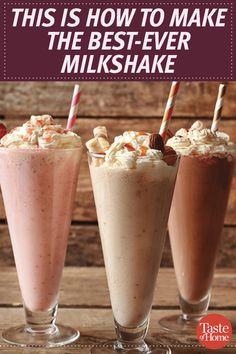 How to Make the Best Milkshake Ever Learn how to make milkshakes from scratch with our step-by-step guide (plus pretty pictures). Related posts: Best 3 Ingredient Chocolate Milkshake Vanilla Milkshake Strawberry Milkshake The Perfect Milkshake Dessert Drinks, Köstliche Desserts, Frozen Desserts, Yummy Drinks, Delicious Desserts, Frozen Drink Recipes, Frozen Drinks, How To Make Milkshake, Homemade Milkshake