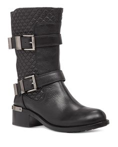 VINCE CAMUTO Welton Quilted Buckle Mid Shaft Boots   Bloomingdale's