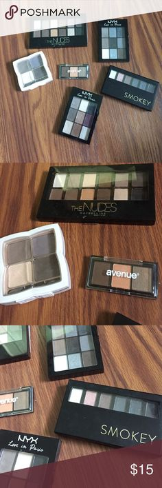 Eyeshadow lot all have either been hardly used or not used at all! NYX Makeup Eyeshadow