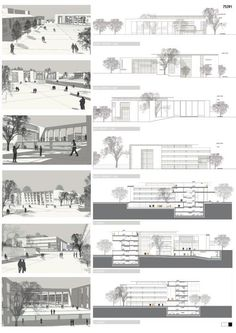 Mention: the architectural project of the Government House of Denizli and its. - Mention: the architectural project of the Government House of Denizli and its near urban design - Urban Design Concept, Urban Design Diagram, Urban Design Plan, Architecture Panel, Architecture Portfolio, Architecture Details, Landscape Architecture, Interior Design Presentation, Architecture Presentation Board
