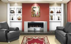 MACD | Fireplaces, Gas fires: Fireplace wall