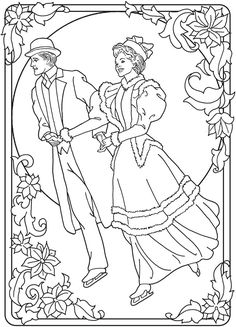 Creative Haven An Old-Fashioned Christmas Coloring Book -- 5 sample ...