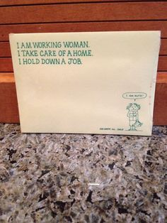 """Vintage Dale Recycled Paper Products Post-Its """"I Am Working Woman ... I Am Nuts"""" #RecycledPaperProductsInc"""