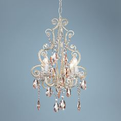 Leila Collection Plug-in Swag Chandelier -