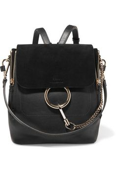 Chloé - Faye medium textured-leather and suede backpack 8b387d79edf88