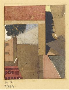 View Mz 182 By Kurt Schwitters; collage on paper; image: x 3 in. Access more artwork lots and estimated & realized auction prices on MutualArt. Kurt Schwitters, Surrealism, Art Reference, Artworks, Mixed Media, Landscapes, Auction, Collage, Paintings