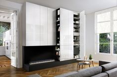 1000 images about rangements sur mesure schmidt on pinterest home tv cinema and salons. Black Bedroom Furniture Sets. Home Design Ideas