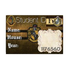 Hufflepuff Student ID (Premade) - ALL is allowed to Use :) ❤ liked on Polyvore featuring harry potter, hogwarts, hufflepuff, harry potter items and harry potter stuff
