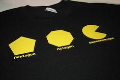 Omnomnomagon Omnom om nom geek funny geometry nerdy geeky video game Man T shirt