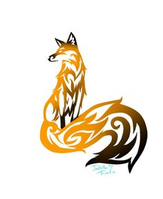 Tribal Fox Tattoo by ~Jadethefirefox on deviantART. I don't really like the tribal aspect, but the position of the fox is great