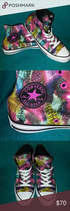 NWOT Converse Allstars Never Worn Brand new RARE and unique Chuck Taylor Converses size Women's 7 no box Converse Shoes Sneakers