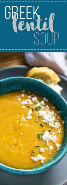 This creamy, veggie-packed Greek Lentil Soup is perfect for a healthy lunch.