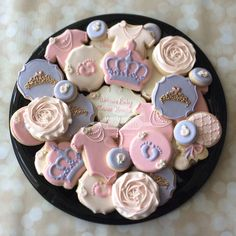 2 Dozen Princess Baby cookies by NatSweetsCookies on Etsy