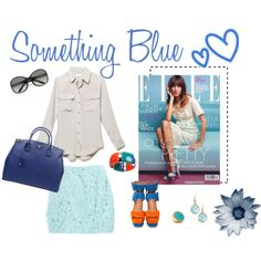 Something Blue, created by chloe-ho on Polyvore
