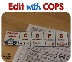 I love this COPS idea to make students editing their own work more fun!