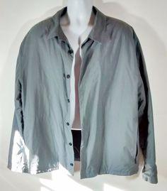 Men's Tommy Hilfiger Gray Insulated Button Up Jacket XL #TommyHilfiger #BasicJacket