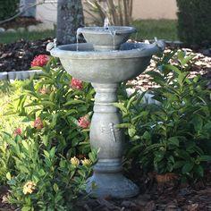 garden bird bath | ... you need for your solar birdbath fountain or solar garden fountains