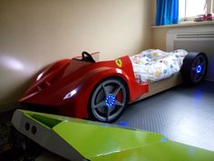 Handmade car bed, Ferrari , child's bed , LaFerrari , timber bed