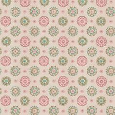 Funky Retro Vintage Wallpaper Pink Green | 1950s Vintage Antique Wallpaper